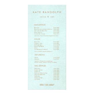 Aqua Blue Salon Spa Price List Service Menu Rack Card Template