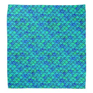 Aqua Blue Scales Bandana
