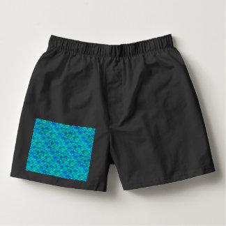 Aqua Blue Scales Boxers