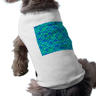 Aqua Blue Scales Doggie Tee Shirt