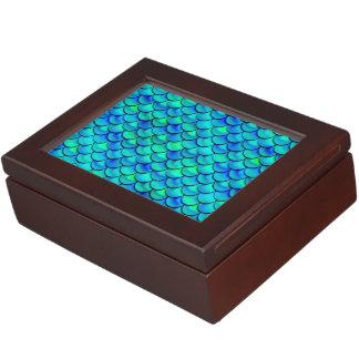 Aqua Blue Scales Keepsake Box