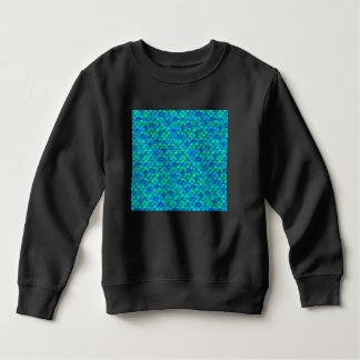 Aqua Blue Scales Sweatshirt