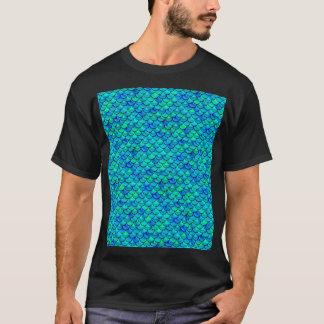Aqua Blue Scales T-Shirt