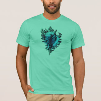 Aqua Blue Sea Shell T-Shirt
