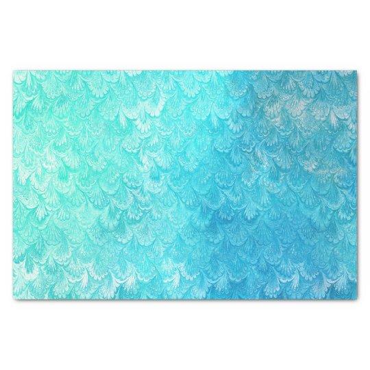Aqua Blue Shiny Sea Shell Mermaid Fish Scales Tissue Paper