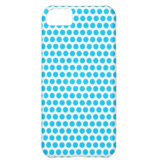 Aqua Blue Small Dots iPhone 5C Cover