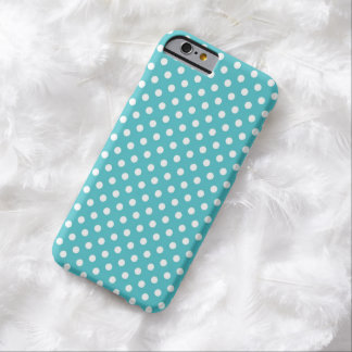 Aqua Blue Small Polka Dot iPhone 6 case Barely There iPhone 6 Case
