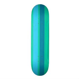 Aqua Blue Stripes Skateboard