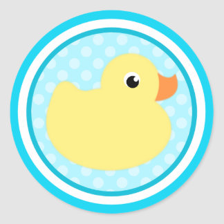 Aqua Blue Sweet Baby Duck Stickers