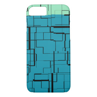 Aqua Blue Teal Green Modern Pattern iPhone 8/7 Case