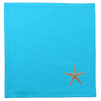 Aqua Blue Tropical Starfish Cocktail Napkins