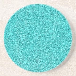 Aqua Blue Ultrasuede Look Coaster