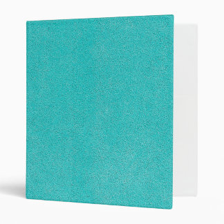 Aqua Blue Ultrasuede Look Vinyl Binder