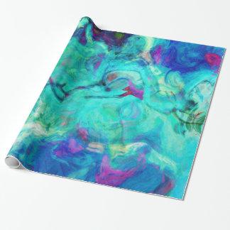Aqua Blue Water Abstract