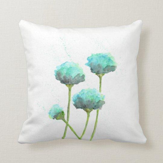 Aqua Blue water colour scatter cushion