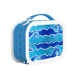Aqua Blue Waves Lunch Box
