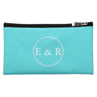 Aqua Blue Wedding Cosmetic Bag