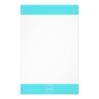 Aqua Blue Wedding Stationery Design