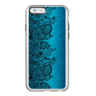 Aqua Blue With Black Paisley Lace Incipio Feather® Shine iPhone 6 Case