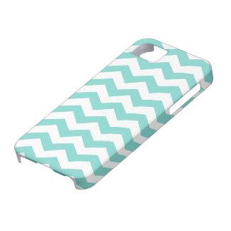 Aqua Blue Zig Zag Pattern iPhone 5 Covers