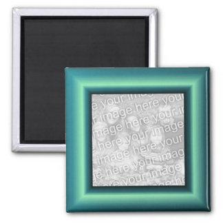 Aqua Border Square Magnet