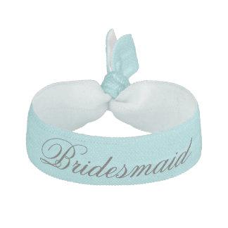 Aqua Bridesmaid Hair Tie