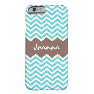 Aqua brown chevron pattern iPhone 6 case