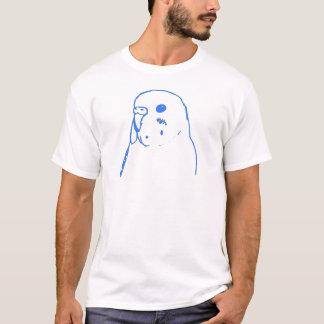 Aqua Budgie Portrait T-Shirt