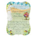 Aqua Bunting Flower Garden Bridal Shower Invite