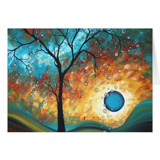 Aqua Burn MADART Original Painting Greeting Card