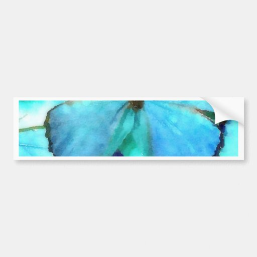 Aqua Butterflies Bumper Stickers