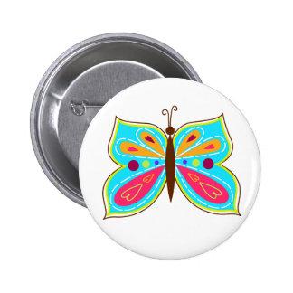Aqua Butterfly Button