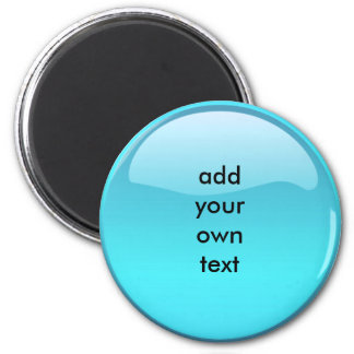 aqua button refrigerator magnet