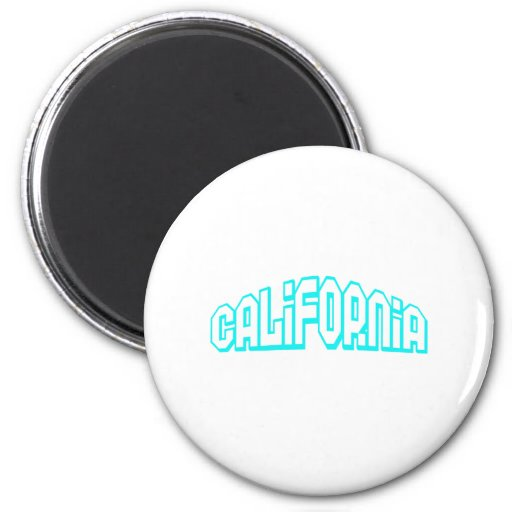 Aqua California Refrigerator Magnets