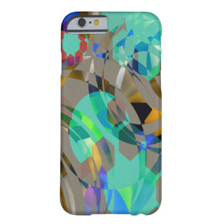 Aqua Camouflage Abstract Barely There iPhone 6 Case