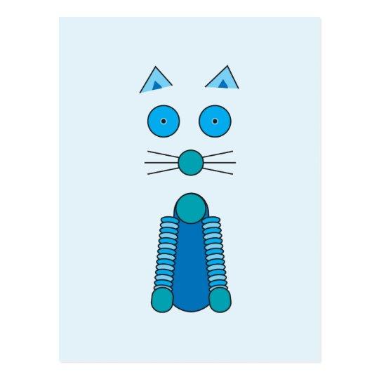 Aqua CAT Postcard