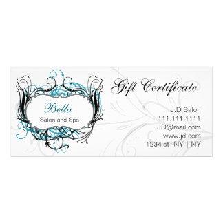aqua, certificat-primes chics noirs et blancs motif pour double carte
