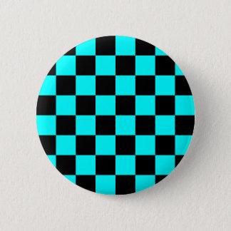 Aqua Checkerboard Button