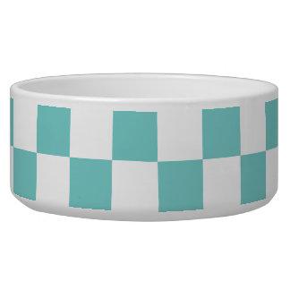 Aqua Checkerboard Pattern