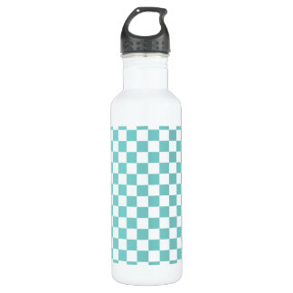 Aqua Checkerboard Pattern 710 Ml Water Bottle