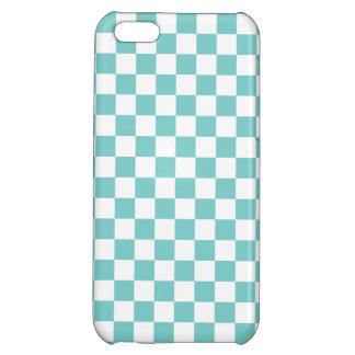 Aqua Checkerboard Pattern Case For iPhone 5C
