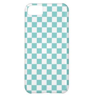 Aqua Checkerboard Pattern iPhone 5C Case