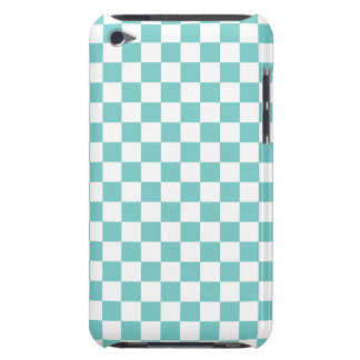 Aqua Checkerboard Pattern iPod Touch Cover