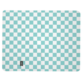 Aqua Checkerboard Pattern Journal