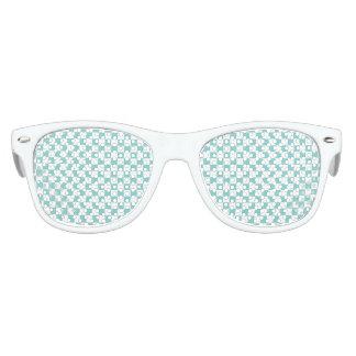 Aqua Checkerboard Pattern Kids Sunglasses