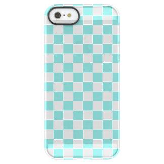 Aqua Checkerboard Pattern Permafrost® iPhone SE/5/5s Case
