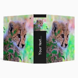 Aqua_Cheetah_20180102 3 Ring Binder