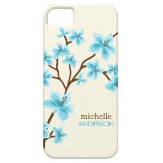 Aqua Cherry Blossoms Tree iPhone 5 Cover