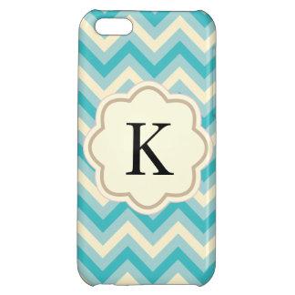 Aqua Chevron Case For iPhone 5C