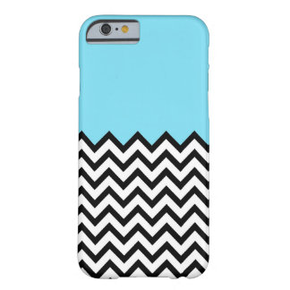 Aqua Chevron Color Block Pattern iPhone 6 case Barely There iPhone 6 Case